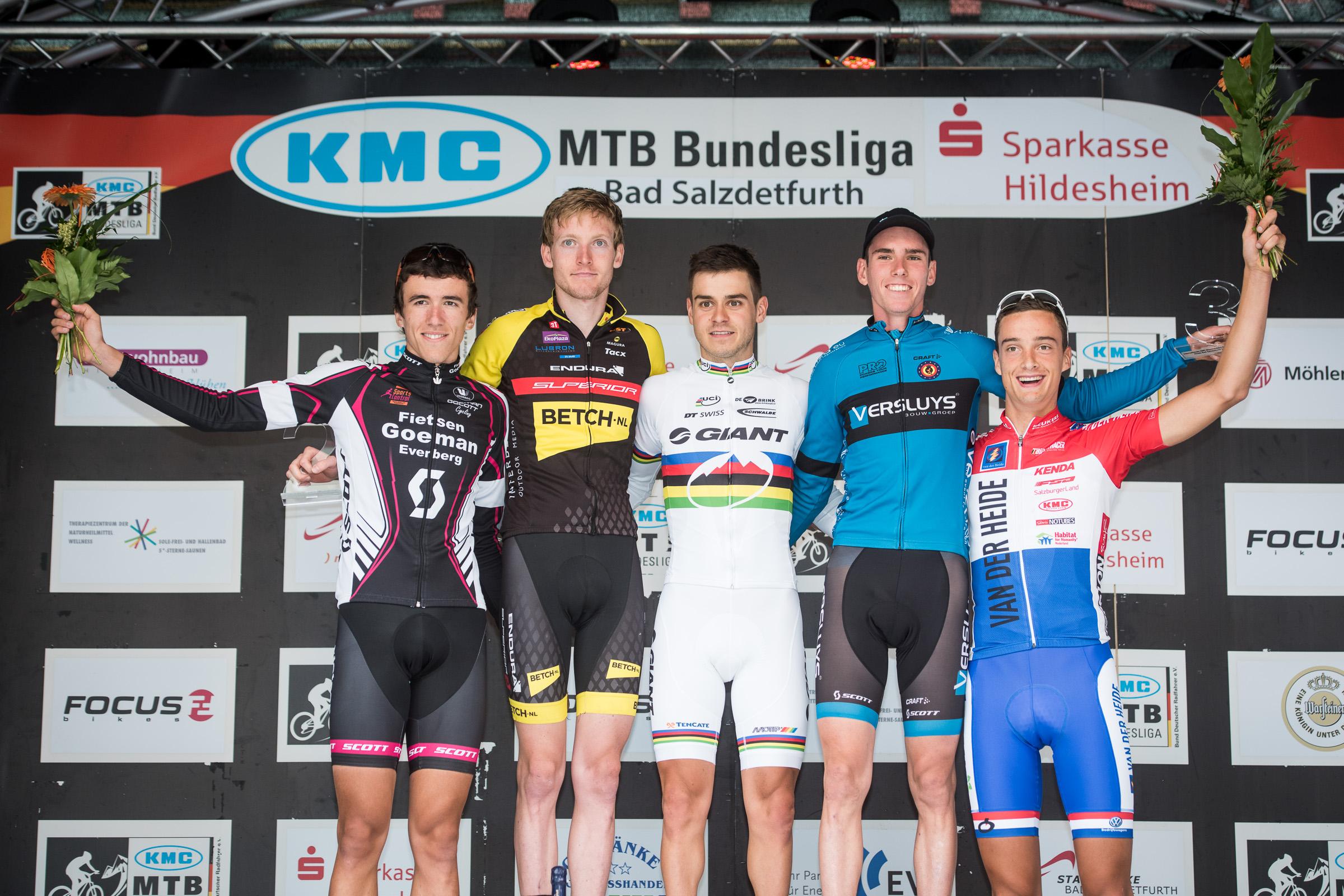BL-Finale 2014 Podium U23 Herren
