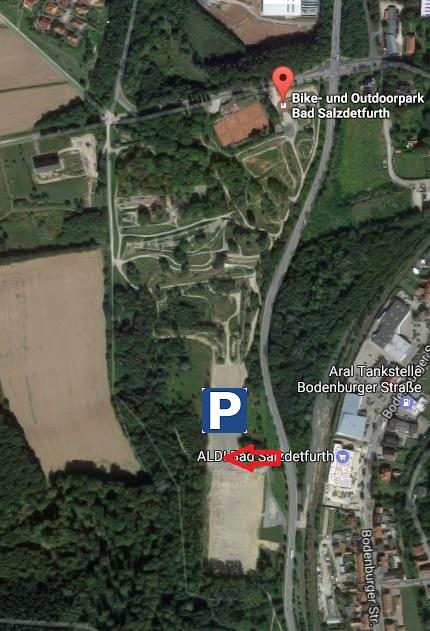 Parkplatz im BOP zur DM XCO XCE 2017