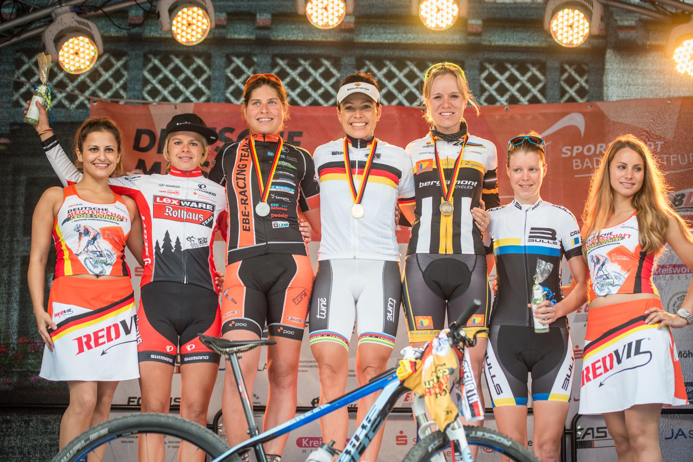 DM 2013 - Frauen Elite Siegerehrung Top5