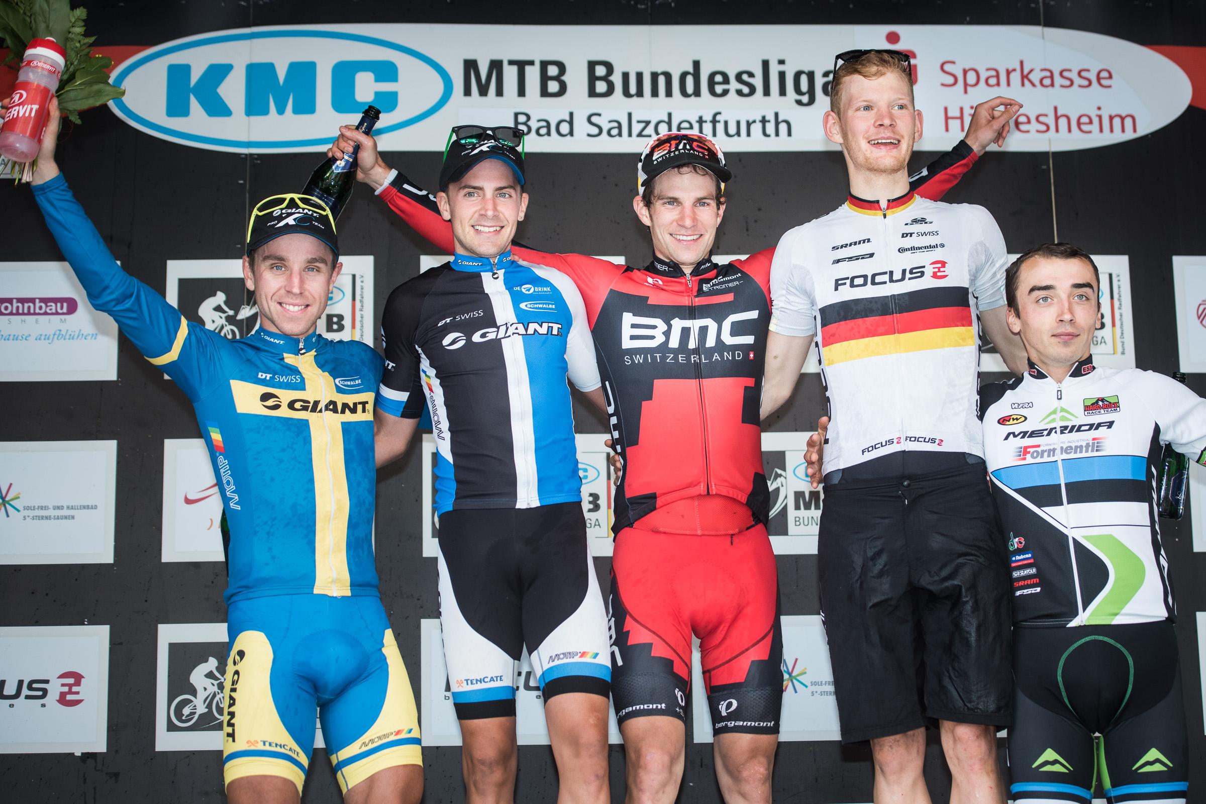 BL-Finale 2014 Podium Herren Elite